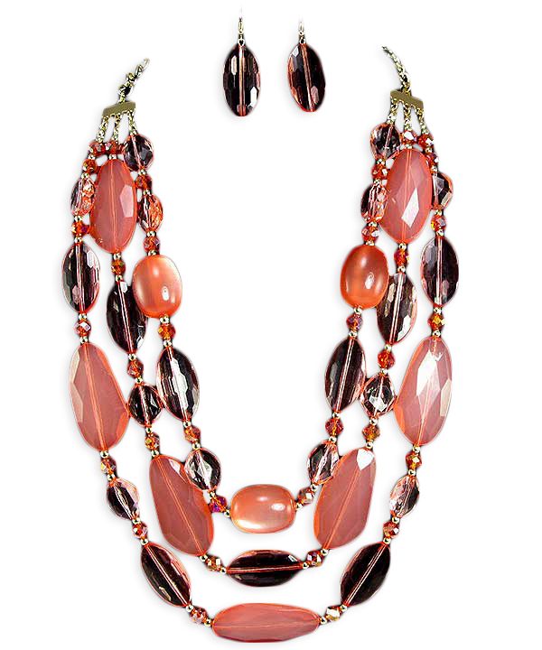 Angela Bead Necklace Set
