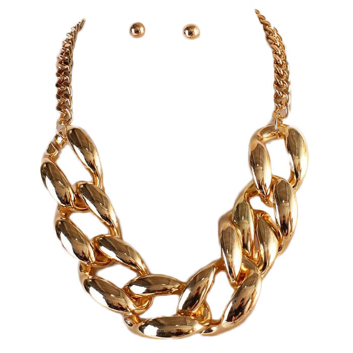 Joi Chain Link Necklace Set.