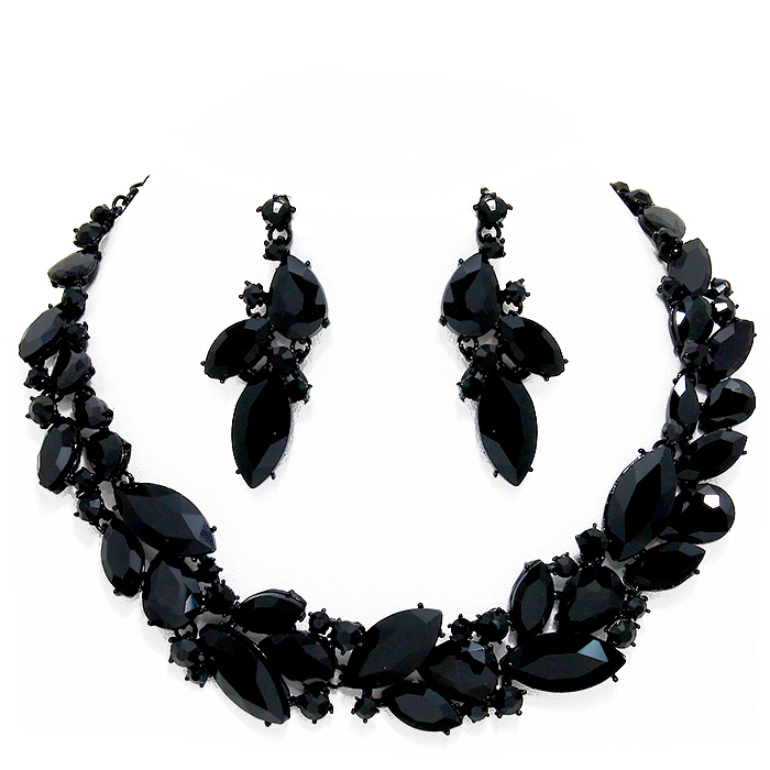 Elvira Crystal Necklace Set