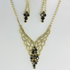 Willow Rhinestone Necklace Set II