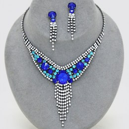 Tristan Rhinestone Necklace Set II