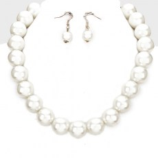 Majken Faux Pearl Necklace Set