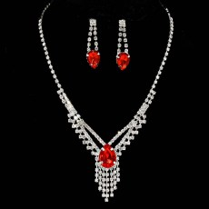 Cady Rhinestone Necklace Set