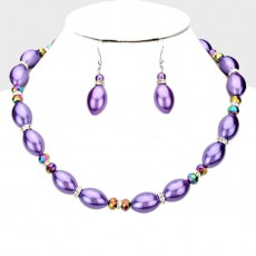 Nathalee Bead Necklace Set