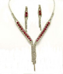 Iris Rhinestone Necklace Set II