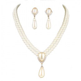 Chantrell Faux Pearl Necklace Set,