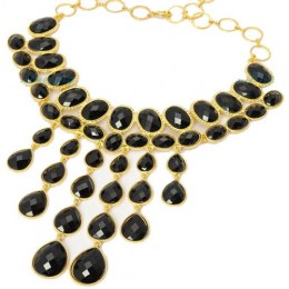 Kendra Black Beauty Fashion Necklace 1