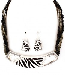 Zia Crescent Necklace Set