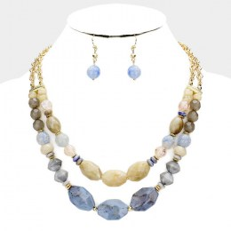 Elena Bead Necklace Set 2