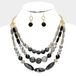 Stephany Bead Necklace Set 2