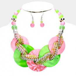 Lacene Bead Necklace Set. 2