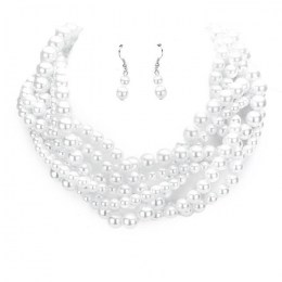 Alma Pearl Necklace Set