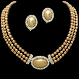 Nikki Faux Pearl Necklace Set,