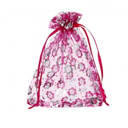 Fuchsia Flower Bag 10x12cm