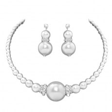 Darby Faux Pearl Necklace Set.