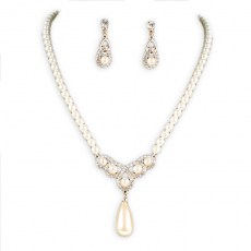 Fia Pearl Necklace Set